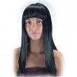 Parrucca nera con frangia