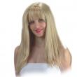 Parrucca bionda con frangia