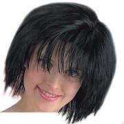 Parrucca corta nera