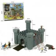 Castello medievale con personaggi