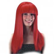 Parrucca rossa con frangia