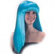 Parrucca cosmic girl azzurra