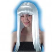 Parrucca bianca con frangia