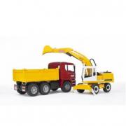 Bruder 02751 - Camion Man con escavatore