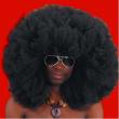 Parrucca super africa d. 60 nera