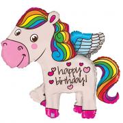 Palloncino pony happy birthday 114cm