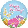 Palloncino happy birthday fiori 46cm