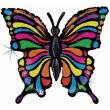 Pallone elio foil farfalla olografica cm. 83