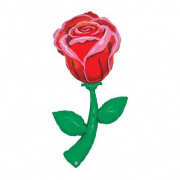 Pallone elio foil Rosa rossa cm. 150