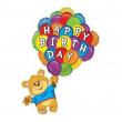 Palloncino happy birthday orsetto 107cm