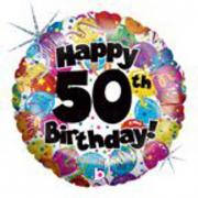 Pallone elio foil 50th olografico cm. 46