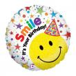 """Pallone elio """"Smile It's Your Birthday!"""" rotondo cm. 46"""