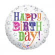 """Pallone elio """"Happy Birthday"""" rotondo cm. 46"""
