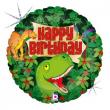 "Pallone elio ""Dino Happy Birthday"" rotondo cm. 46"