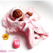 Bambola la newborn femmina nera 39cm