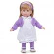 Bambola Carla bionda vestito viola 36 cm