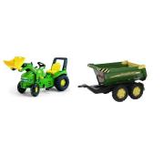 RollyX-Trac JD con escavatore+Rimorchio RollyHalfpipe JD.