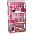 Casa delle bambole in legno rosa
