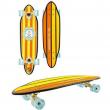 Skateboard cruiser krypto cutway