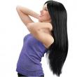 Parrucca nera lunga cm. 75