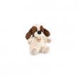 Cane bianco e marrone cm. 25 Trudi