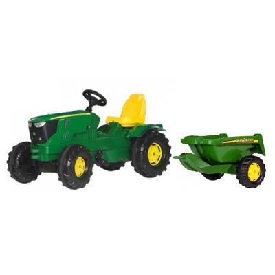 Trattore Rolly Farm-Trac John Deere 6210 R+Rimorchio John Deere