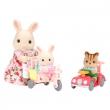 Set bebè su auto e triciclo con mamma Coniglia Sylvanian Familie