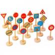 Set segnali stradali in legno