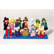 Marionette da dita assortite 12 pezzi
