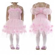 Vestito rosa con tulle tg. 8 anni
