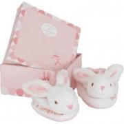 Scarpette in peluche coniglietto rosa
