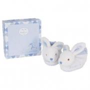 Scarpette in peluche coniglietto azzurro
