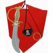 Set Pirata: pugnale + benda + fascia