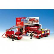 Camion dei vigili del fuoco con personaggio