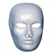 Maschera viso medio bianco da pitturare