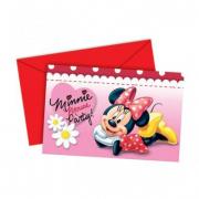 Biglietti invito festa Minnie 6 pz