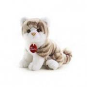 Gatto bianco grigio Brad cm. 24