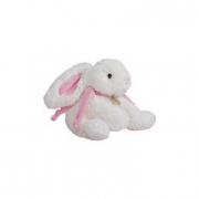 Coniglio in peluche con fiocco rosa cm. 20 Dou Dou et Compagnie