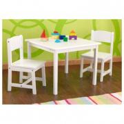 Tavolo in legno biancocon 2 sedie