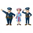 Pippi Calzelunghe personaggi: Maestra e due gendarmi cm. 8
