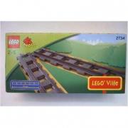 """2734 Lego Duplo Treni """"6 Binari dritti per la ferrovia"""" 2/5 anni"""
