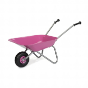 Carriola giocattolo in metallo rosa
