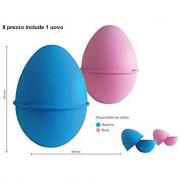 Uova in plastica rosa/azzurro