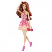 Barbie Fashionistas abito a fiori arancione X7871