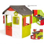 Casetta giardino Jura Lodge modulare+modulo cucina+modulo panche