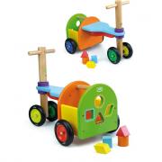 Triciclo arcobaleno in legno