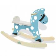 Cavallo a dondolo in legno blu