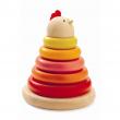 CACHEMPIL gioco in legno impila anelli Djeco