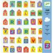 Adesivi lettere Djeco