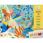 TEMPERE NATURAL WORLD colori ARTE AL NUMERO kit artistico DJECO